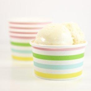 Rainbow Stripe Ice-cream Cups - Pack of 12