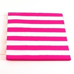 Raspberry Pink Candy Stripe Napkins - Pack of 12