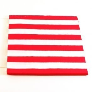 Red Candy Stripe Napkins - Pack of 12