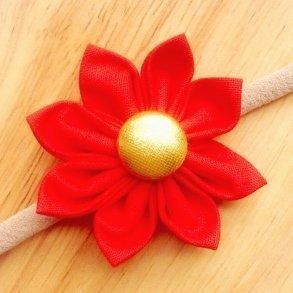 Red Fabric Flower Blossom Girls Headband