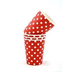 Red Polkadot Party Cups - Pack of 12