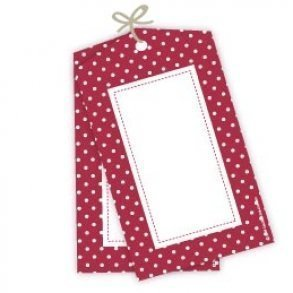 Red Polkadot Party Gift Tags - Pack of 12