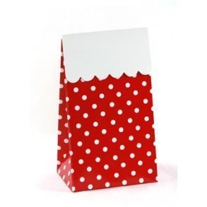 Red Polkadot Sweet Party Treat Boxes - Pack of 12