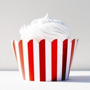 Red Stripes Cupcake Wrappers - Pack of 12