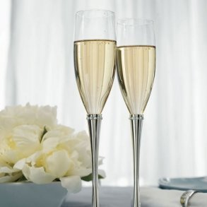 Ring Of Crystals Toasting Flutes