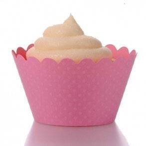 Rose Pink Cupcake Wrappers - Pack of 12