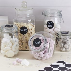 Round Chalk Board Sticker Labels - Candy Bar