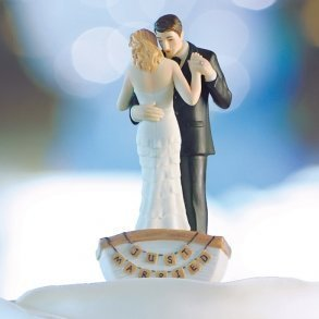 Row Away Wedding Couple Cake Topper