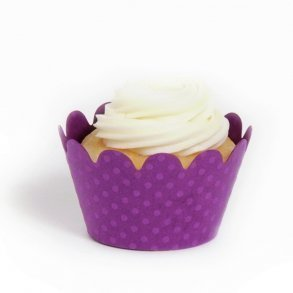 Royal Purple Mini Cupcake Wrappers - Pack of 18