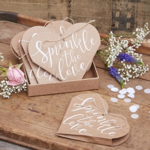 Country wedding themes decorations ideas how divine online store heart shaped sprinkle the love confetti cones junglespirit Gallery