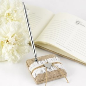 Rustic Romance Wedding Pen