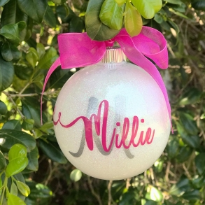 Scripted Monogram Personalised Christmas Bauble