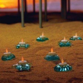 Sea Animal Glass Candle Holders