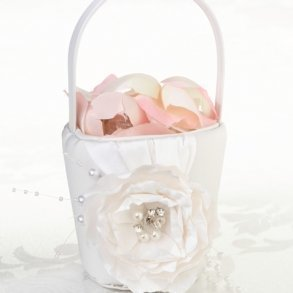 Shabby Chic Flower Girl Basket