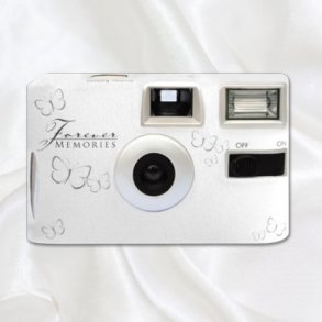 Silver Butterfly Disposable Wedding Camera