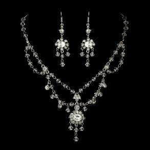 Silver Chandelier Tiered Bridal Jewellery Set