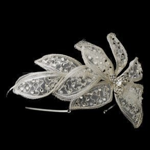 Silver Flower Side Accented Headband