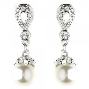 Ivory Pearl Drop Bridal Earrings