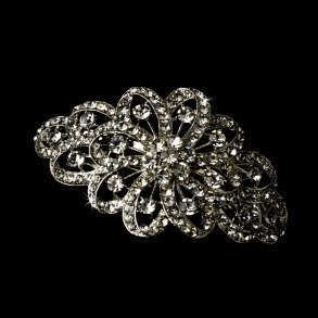 Silver Ribbon Barrette
