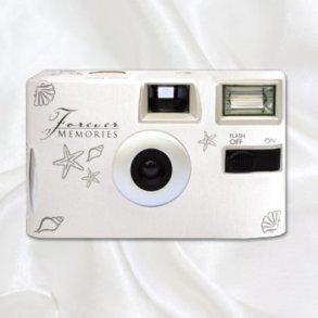 Silver Shells Disposable Wedding Camera