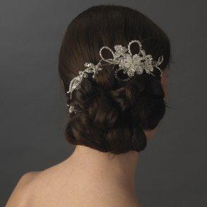 Silver Swarovski Crystal Wrap Around Bridal Headpiece