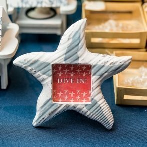 Small Wooden Starfish Photo Frame/Place Card