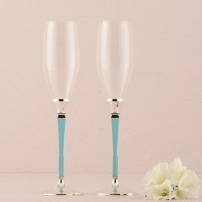 Something Blue Toasting Flutes