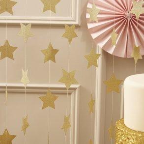 Sparkling Gold Star Garland
