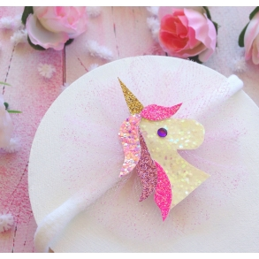 Sparkling Unicorn Girls Hair Clip or Headband