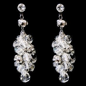 Swarovski Crystal Cluster Earrings