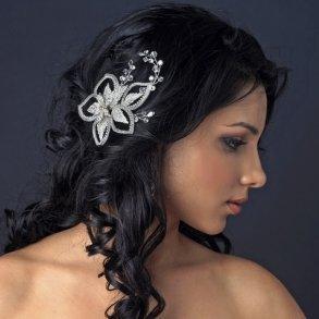 Swarovski Crystal Floral Leaf Bridal Comb