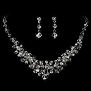 Swarovski Crystal Bridal Necklace Set