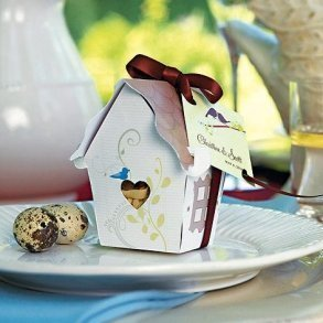 Sweet Bird House Favour Box