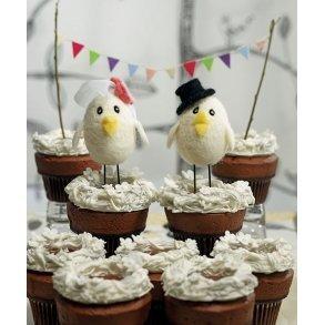 Sweet Tweets Bride & Groom Cake Topper