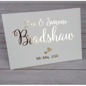 Swirly Personalised Wedding Guest Book - 3 colours available