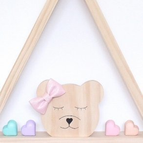 Tessa Bear Kids Wooden Room Decor