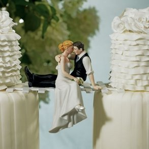 The Look Of Love Bride & Groom Cake Topper