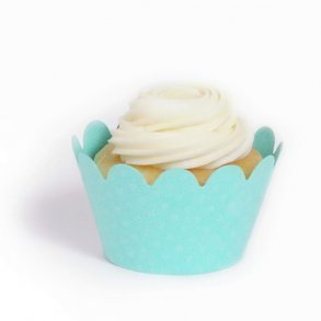 Tiffany Blue Mini Cupcake Wrappers - Pack of 18