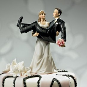 To Have & To Hold Bride & Groom Wedding Cake Topper