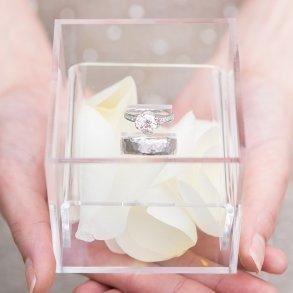 Unique Alternative Acrylic Wedding Ring Box