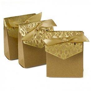 Vintage Gold Tent Style Favour Boxes