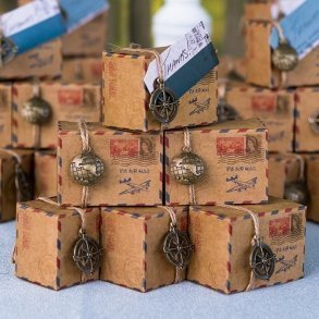 Vintage Inspired Airmail Favour Box Kit