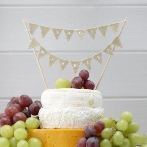 Vintage Just Married Cake Bunting