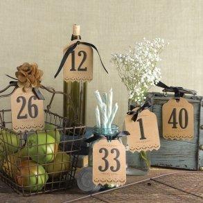Vintage Kraft Table Number Tags (1-40)