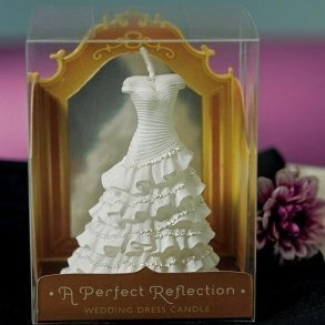 Wedding Dress Mini Candle