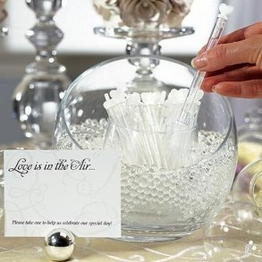 """Wedding """"Love Bubble"""" Wands - Pack of 24"""