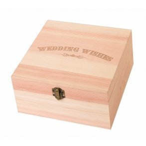Wedding Wishes Wooden Card Box