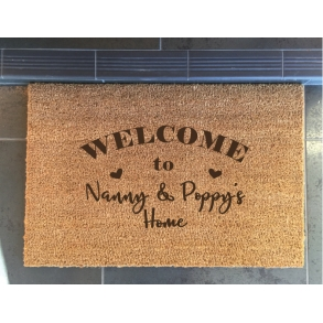 Welcome to Grandparents Home Custom Doormats
