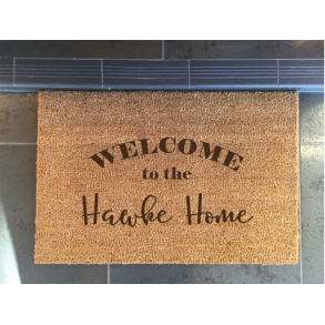 Welcome to 'Surname' Custom Etched Doormat