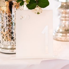 White Acrylic Block Style Table Number